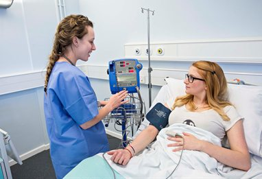 Midwifery student in hospital setting