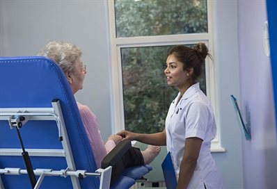 Occupational Therapist at work in hospital