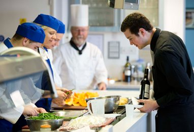 Student in Culinary Arts Studio