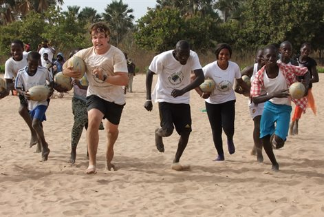 Playing rugby in the Gambia with Rugby for Peace