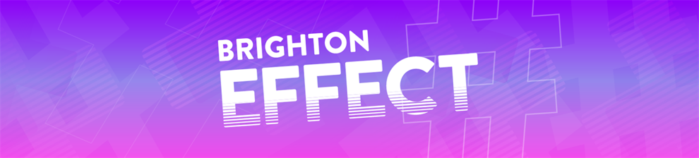 Graphic image with the words Brighton Effect