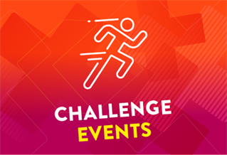 Graphic image with the words Challenge Events