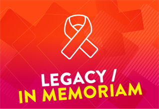 Graphic image with the words Legacy/In memoriam
