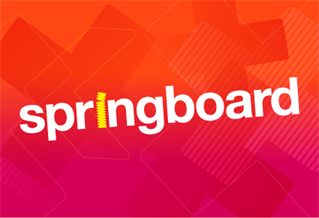 Graphic image with the words Springboard
