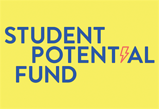 Graphic image with the words Student potential fund