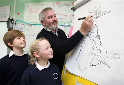 Chris Riddell volunteering