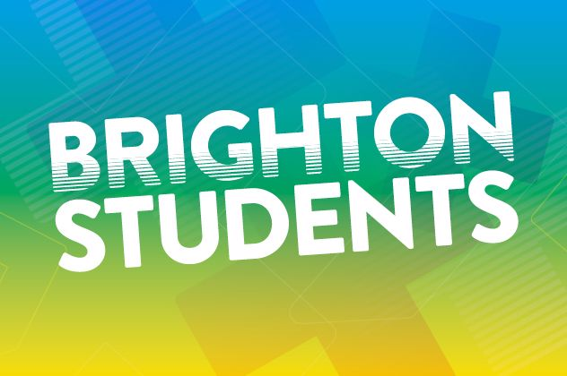Graphic image with the words Brighton Students