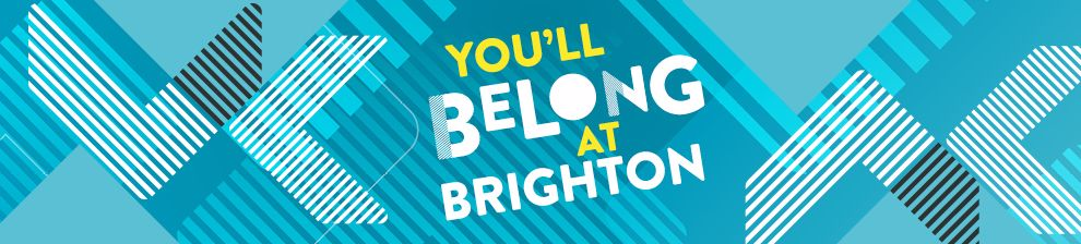 Graphicical image: You'll belong at Brighton