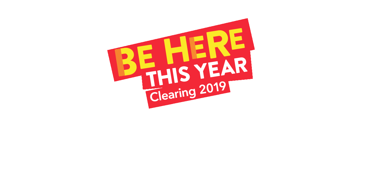 Banner graphic with the text Be here this year, Clearing 2019
