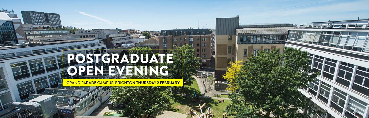 Postgraduate open evening at Grand Parade 2 February 2017