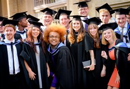 Summer graduates outside Brighton Dome