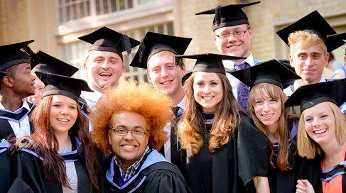 Summer graduates outside Brighton Dome