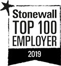 Stonewall Top 100 Employer award logo