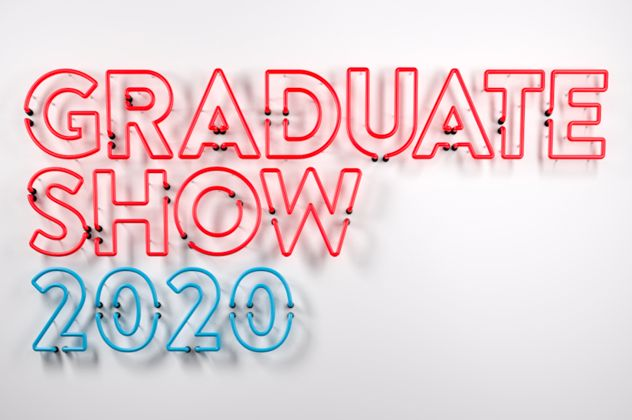 Graduate Show 2020 in neon lights