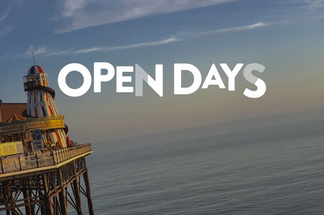 Image of Brighton pier with the title Open days