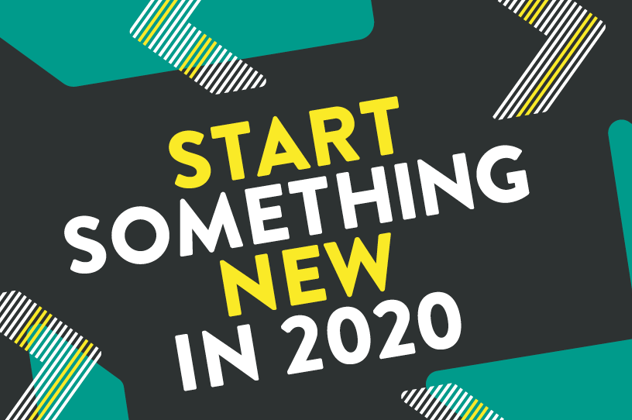 Image with text: Start Something New in 2020