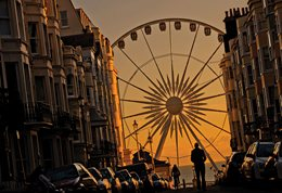 Brighton Wheel at sunset