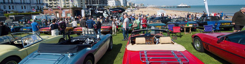Magnificent motor show on Eastbourne beach