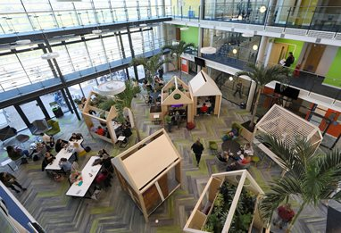 Newly refurbished atrium in the Checkland Building