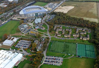 Aerial view of the Falmer campus