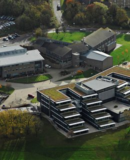 Aerial shot of the Falmer campus