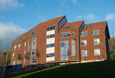 Hillside hall of residence at Varley Park