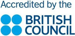 Accredited by the British Council logo