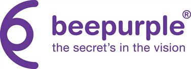 beepurple logo: the secret's in the vision