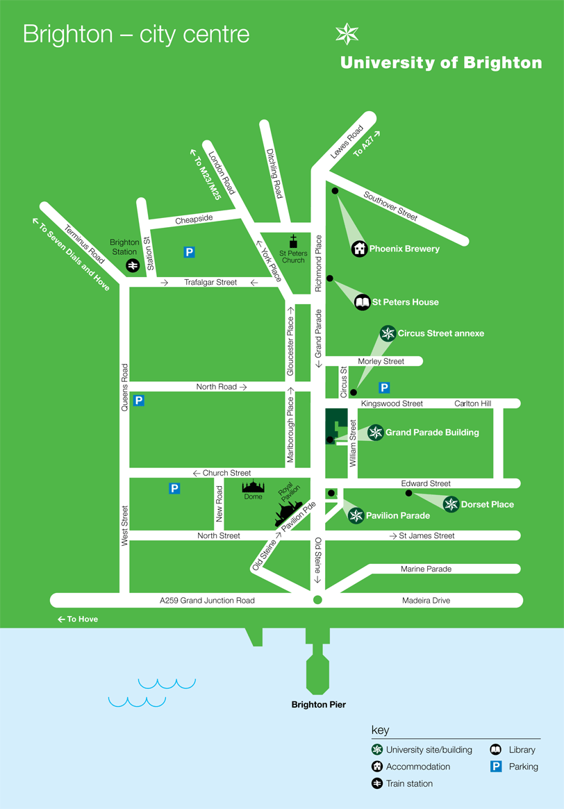Map of the Grand Parade campus