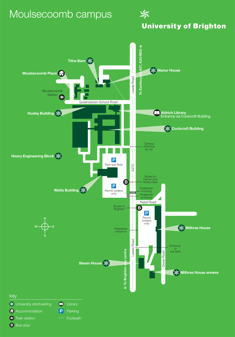 Map of the Moulsecoomb campus
