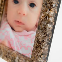 A frame Amanda made using animal placenta to demonstrate the process