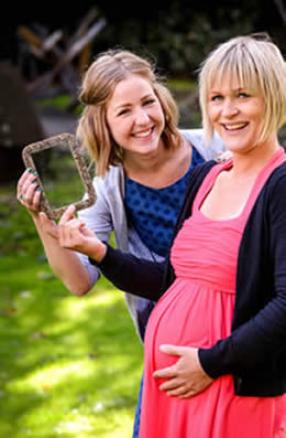 Amanda Cotton with mother-to-be Ulrike Jarl