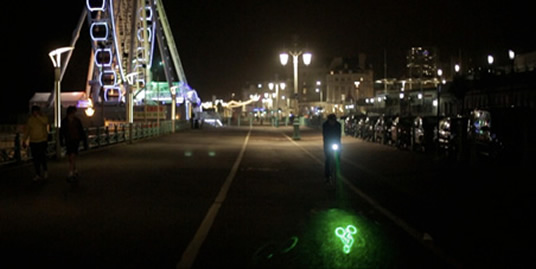 The Laserlight in action on Brighton seafront