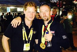 Prince Harry and Andrew Perrin