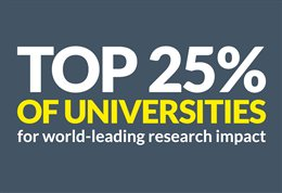 Top 25 per cent of universities
