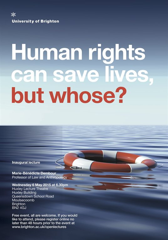 Human rights saves lives poster