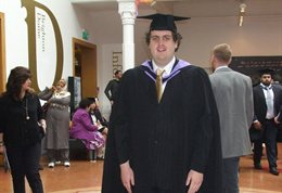 Graduate with autism gains masters degree