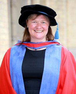 Mandy Chessell at the University of Brighton graduation