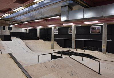 The underground skate park in Hastings
