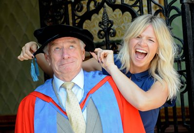 Johnny Ball with daughter Zoe