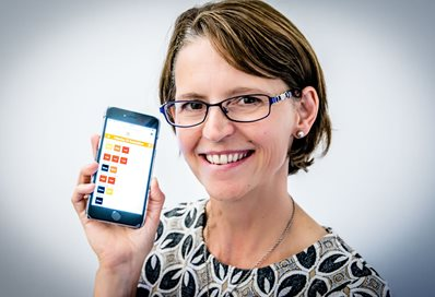 Paula Kersten with MS Energise app
