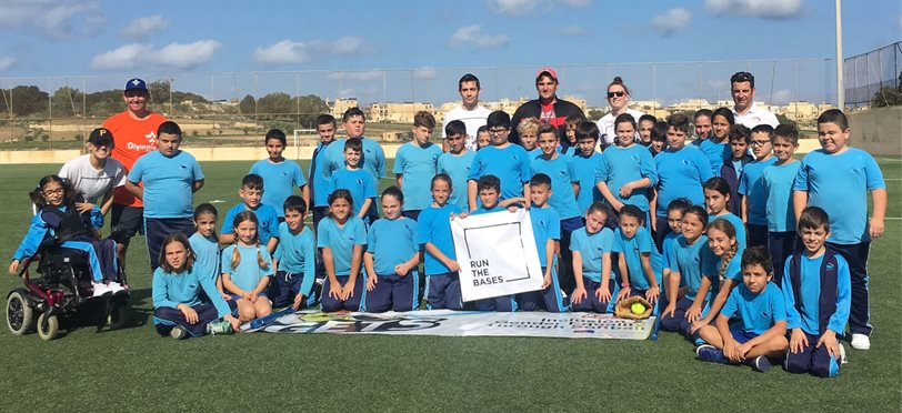 Run the Bases with Maltese students