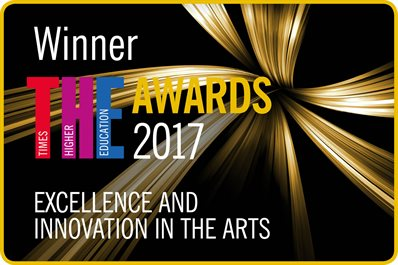 THE Awards 2017 Winner Badge  -Excellence and Innovation in the Arts