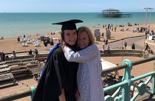 Amie Beaumont and her mum Samantha