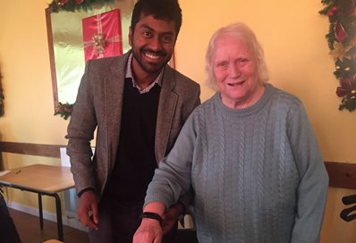 Dr Anand Sundaralingam and Jean Murray