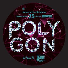 Polygon beer pump badge