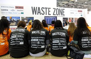 Students attending a previous WasteZone - Ecobuild event
