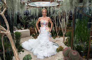 Tanya Streeter at the Chelsea Flower Show