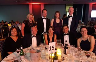 University of Brighton staff at the Brighton and Hove Business Awards