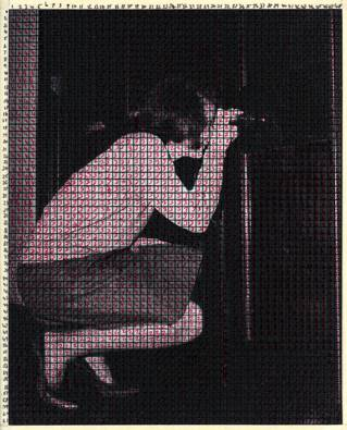 Image of 1930 woman with camera from The Discreet Channel with Noise by Clare Strand